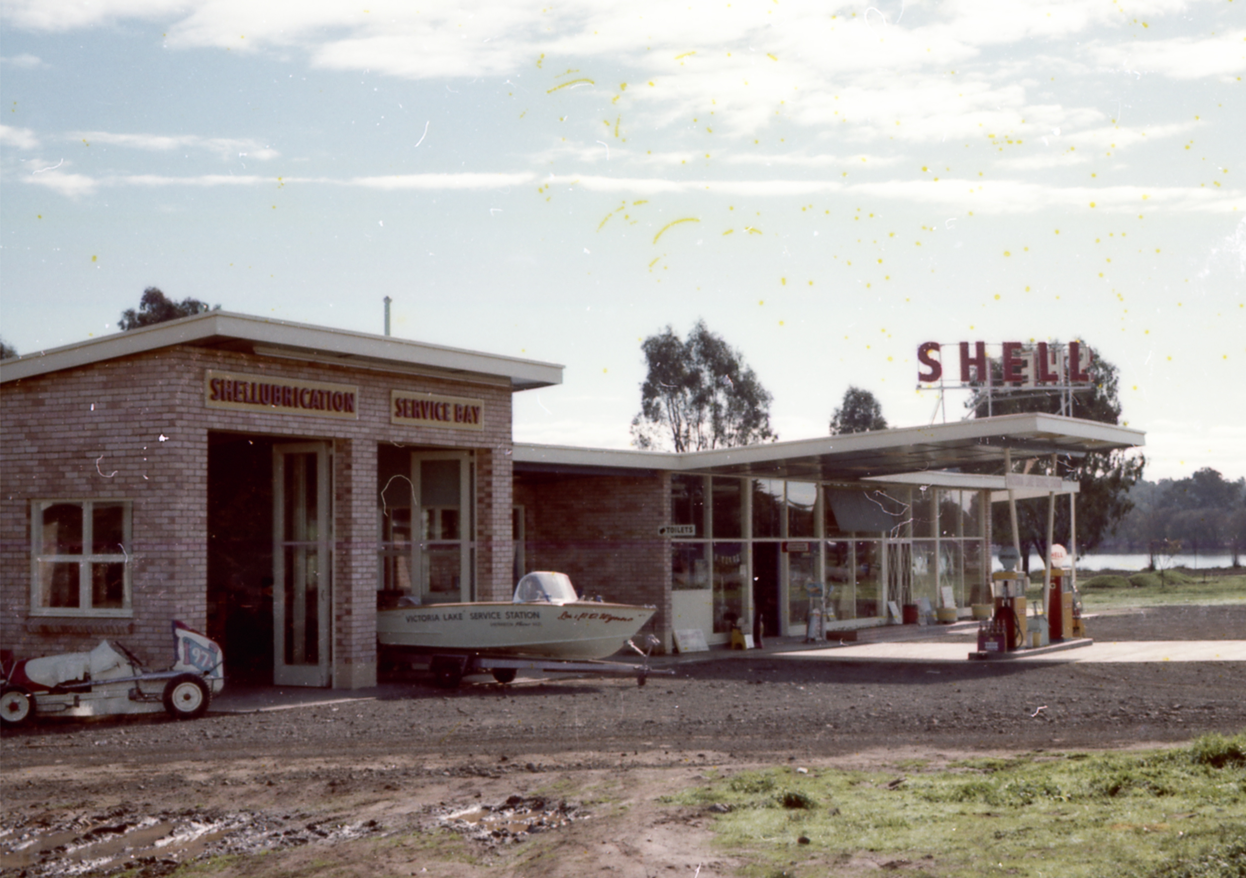 The Old Shepparton Victoria Lake Service Station Circa 1967 Supplied Myrna Gretton