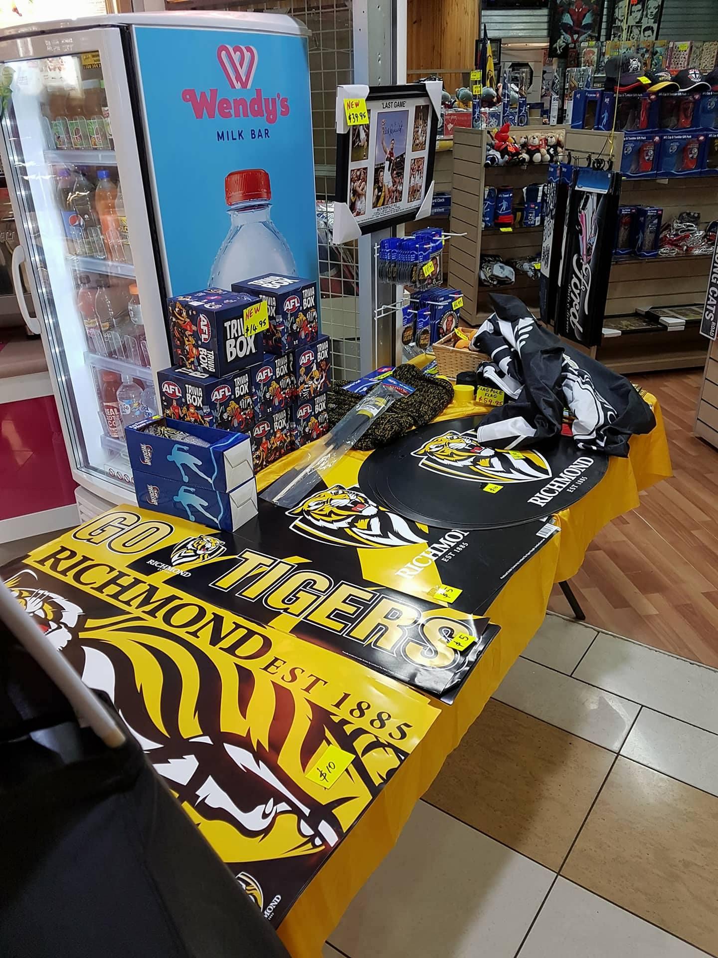 Some of the Tigers memorabilia for sale.